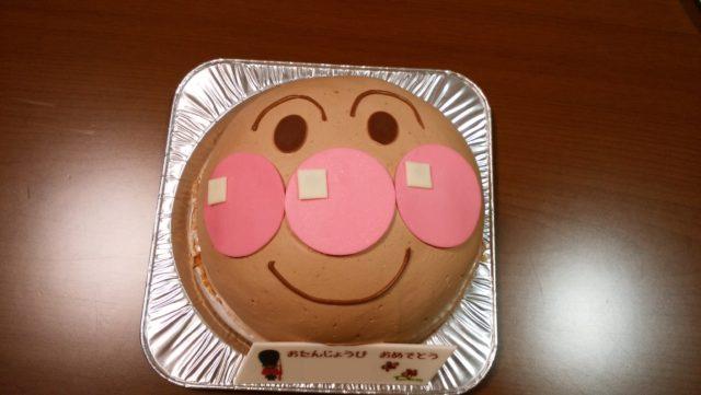 ケーキを上から